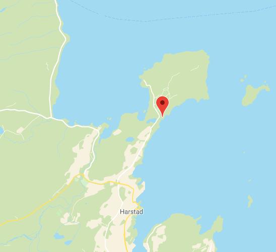 Kart til Trondenes